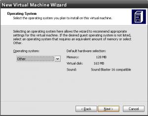 выбор характеристик виртуальной машины