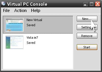 запуск Virtual PC
