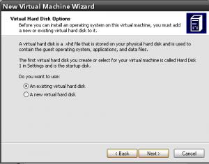 выбираем виртуальный жесткий диск