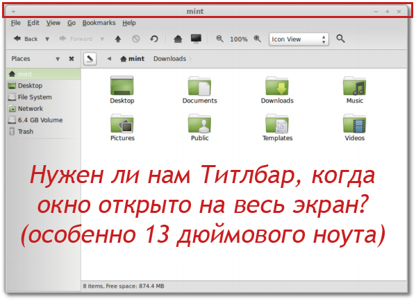 MATE remove titlebar