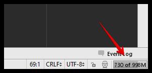 Индикатор потребляемой памяти PHP Storm