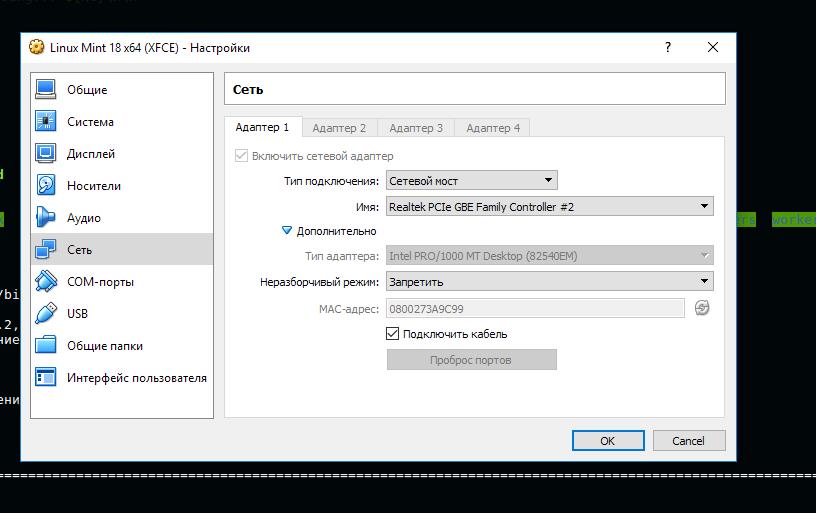 Проблема с SSL сертификатом (TSL sertificate) в VirtualBox
