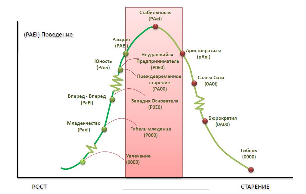 Модель жизненного цикла организации И. Адизеса